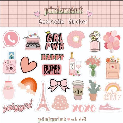 Jual Sticker Aesthetic Peach Salem Untuk Hiasan Hp Laptop Catatan Jurnal Jakarta Barat Pinkmint Shop Tokopedia