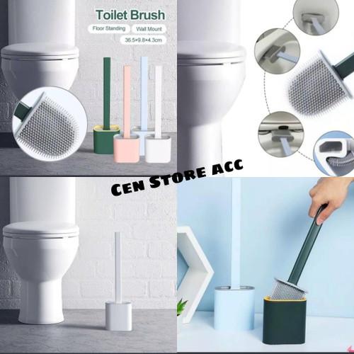 Foto Produk TJ-148 Sikat Wc Silikon Wadah Fleksibel Silicone Toilet Pembersih dari Cen store acc