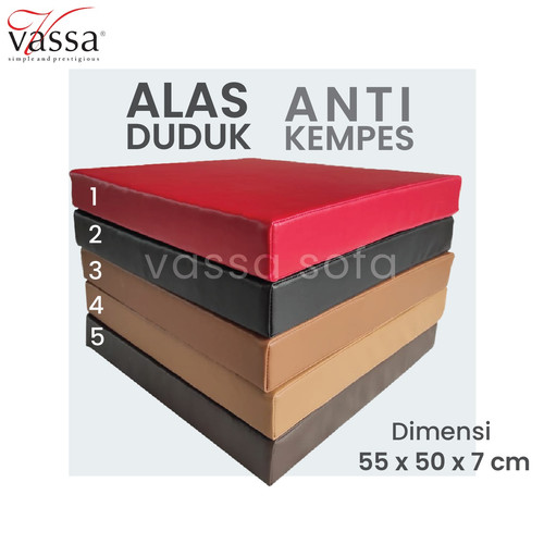 Foto Produk ALAS DUDUK / BANTAL MEDITASI /REBOUNDED FOAM / 55x50x7 CM dari Vassa Sofa