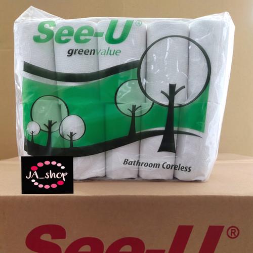 Foto Produk Tissue See U Bathroom Coreless Green Value isi 10 rolls dari jane audrey shop
