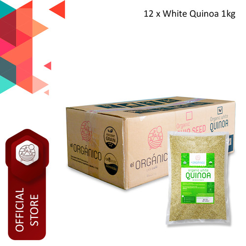 Foto Produk White Quinoa Organic El Organico 1Kg (Carton Box) dari ELorganico