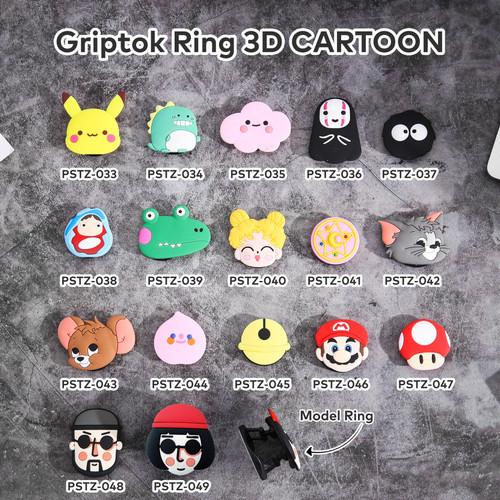 Foto Produk [Kode 033-049] CARTOON - Griptok Ring 3D/ Phone Holder PVC - PSTZ-033 dari Kelontong Unik