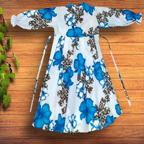 Foto Produk Gamis Rempel Anak Sakura biru - M dari YKS_STORE01