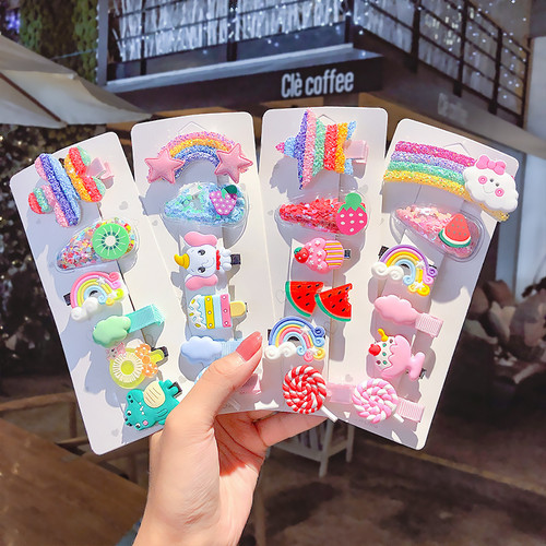 Foto Produk IK88 Jepit Rambut Korea Rainbow Set 6 pcs - person star dari EnnWen Online Store