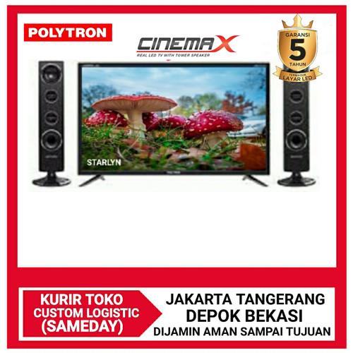 Foto Produk POLYTRON Cinemax LED TV with Tower Speaker PLD 24T8511 Garansi 5 tahun dari DPRINCE