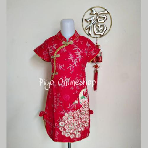 Foto Produk Cheongsam Imlek Anak Perempuan 2 - 7 Tahun (Bunga Coin Gold) - 8 dari Piyo Onlineshop