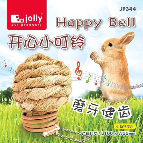 Foto Produk JP344 Jolly Happy Bell Bola Rumput Rabbit Guinea Pig Chinchilla Kelinc dari Hime petshop