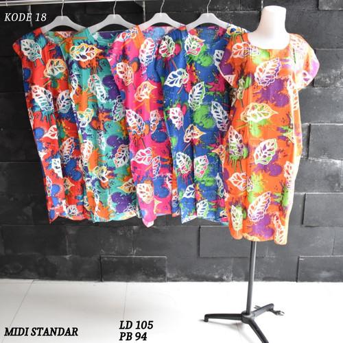 Foto Produk Grosir Daster Midi Rayon Murah Baju Tidur Kode 18 dari Rumah Batik Pekalongan 2