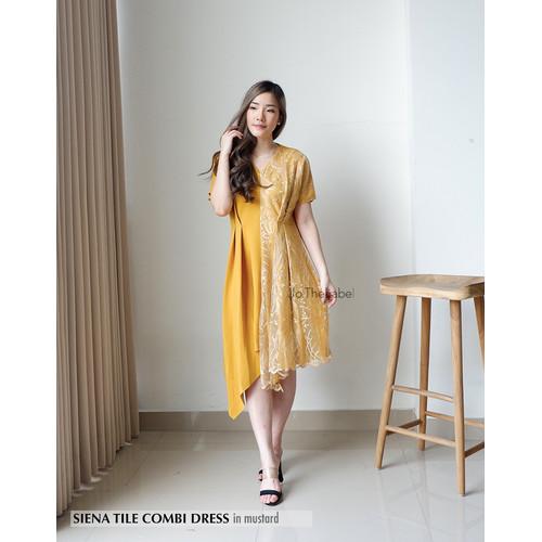 Foto Produk SIENA TILE COMBI DRESS - MUSTARD dari jo.thelabel