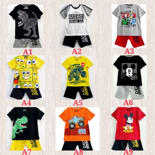 Foto Produk Setelan anak karakter laki-laki size 1-6 tahun - Kaos anak -Baju anak dari Toko anak Bilal