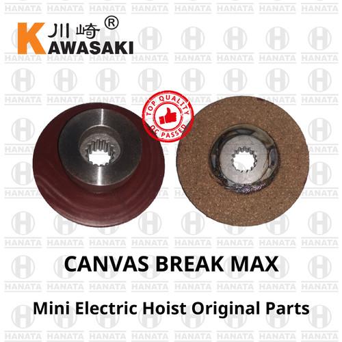 Foto Produk Kawasaki Mini Electric Hoist Spareparts : Canvas Brake 150/300 Kg dari Hanata Lifting Official
