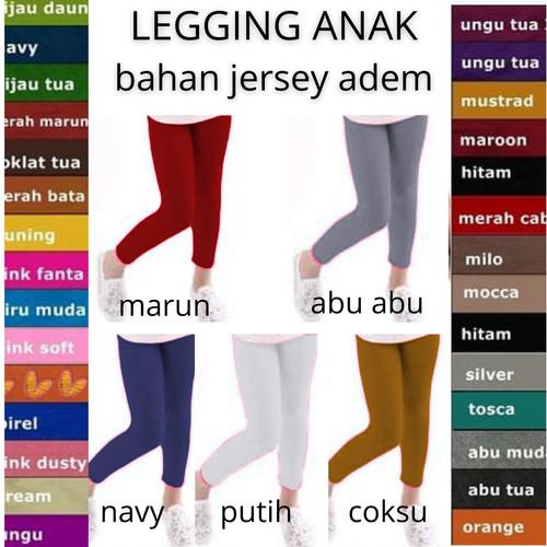 Foto Produk SALE - Celana Legging Anak Perempuan Usia 5-11 Tahun Maksimal 30Kg - Putih dari tukiyem13 depok