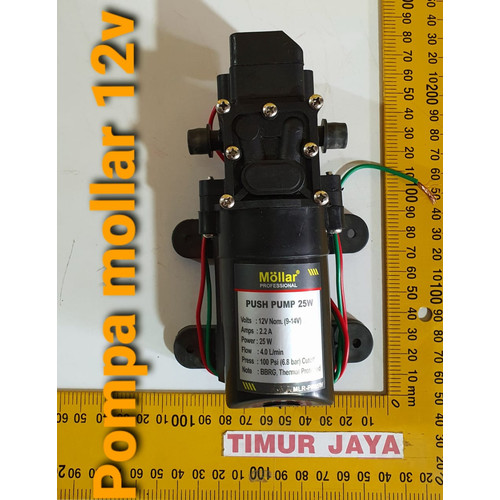 Foto Produk MOLLAR Dinamo Pompa Air DC 12V Cuci AC Motor Mobil Steam Power Sprayer dari TOKO BESI TIMUR JAYA