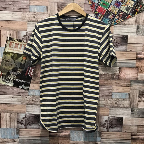 Foto Produk Kaos salur kuning abu kaos belang distro pria baju atasan cowok dari JVH999