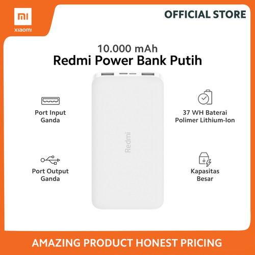 Foto Produk Xiaomi Official Redmi PowerBank 10000mAh Power Bank Garansi Resmi - Putih dari Xiaomi Official Store