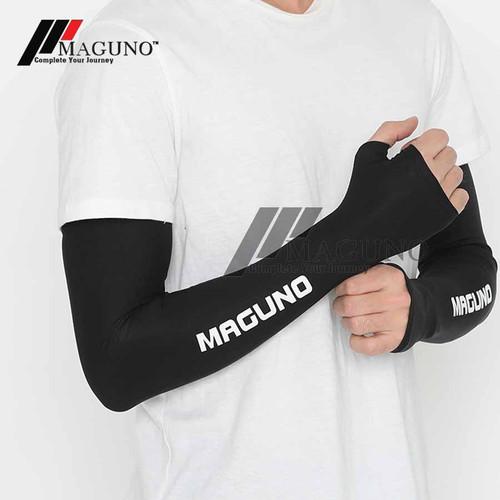 Foto Produk Maguno™ Arm Sleeve Manset Maguno Quick Dry Arm Sleeves Protection - Royal Black, L dari MAGUNO