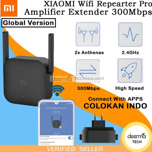 Foto Produk XIAOMI WIFI REPEATER PRO AMPLIFIER EXTENDER PRO 300MBPS ORIGINAL - COLOKAN INDO dari DEERMA TECHNOLOGY