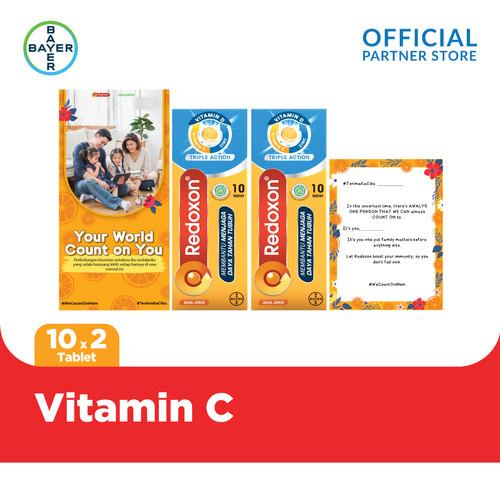 Foto Produk Count On You Pack Redoxon Vit. C, D + Zinc Rasa Jeruk 10 Tab x 2 Unit dari Bayer Health Partner