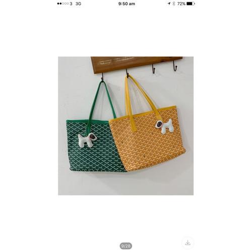 Foto Produk tas tote goyard / tas wanita / tas cantik korea dengan gantungan kunci - Kuning dari 4acc