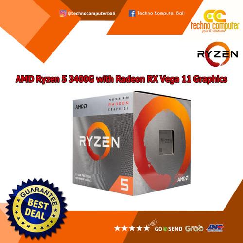Foto Produk Processor AMD Ryzen R5 3400G with Radeon™ RX Vega 11 Graphics dari Techno Computer Bali