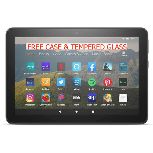 """Foto Produk AMAZON Kindle Fire HD 8 Tablet, 8"""", Latest Editions, with Ads - Hitam dari Duniabargains"""