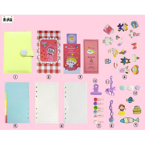 Foto Produk Buku Binder A6 Agenda Planner Bahan Kulit PU Warna Pastel Girl MB0096 - Kuning dari Meowmi Fancy Gift Shop