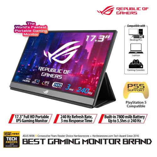 """Foto Produk ASUS ROG Strix XG17AHPE Portable USB Type-C Gaming Monitor 17.3"""" dari Asus Component"""