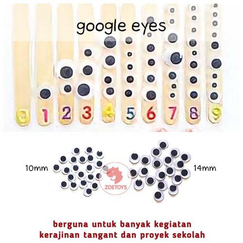 Foto Produk Zoetoys Google Eyes 14mm | mainan edukasi | mainan anak | edutoys - 10mm dari zoetoys