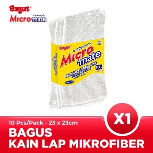 Foto Produk Bagus Micromate Kain Lap Mobil Microfiber Serbaguna 10pc 23X23 308 dari Tchome Official Store