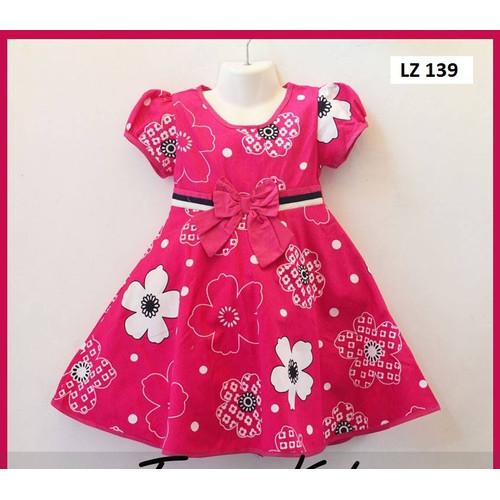 Foto Produk Baju Dress Anak Perempuan Terusan Umur 3-5 Tahun Bahan Katun Jepang - 7-8 tahun dari Fat Mulia