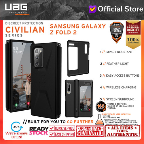 Foto Produk Case Samsung Galaxy Fold 2 Fold2 UAG CIVILIAN Series Cover - Black dari Spigen Indonesia