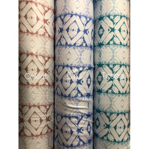 Foto Produk Kain katun viscose by tokai senko motif abstrak [HARGA PER 0,5 METER] - Biru dari Klarisma Textile
