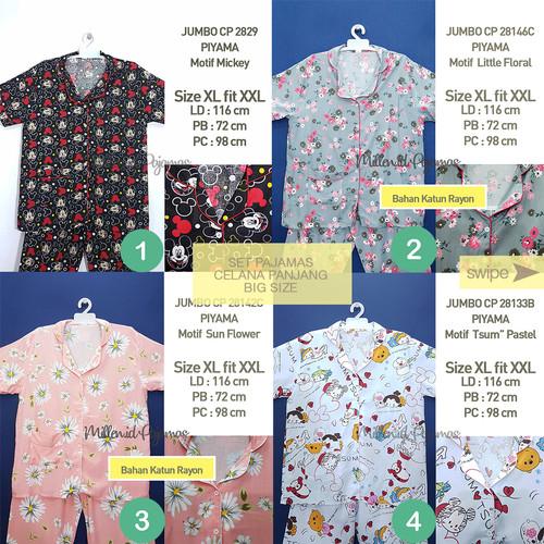 Foto Produk SET PIYAMA JUMBO XL fit XXL Katun Japan Baju Tidur Wanita JBCP - Nomor 1 dari Indonesia Garage