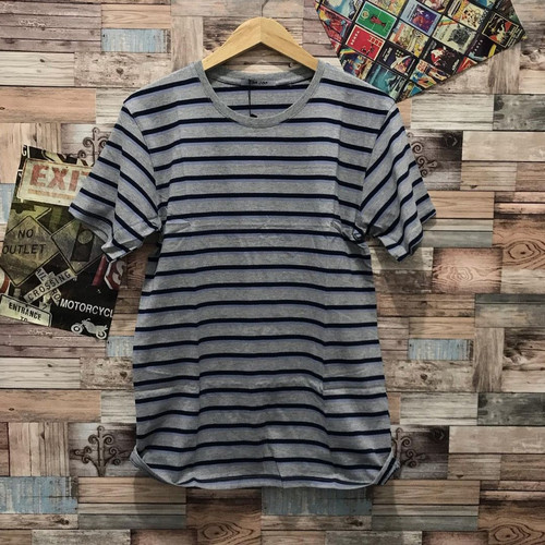 Foto Produk Kaos salur besar abu kaos belang distro pria baju atasan cowok t shirt dari JVH999