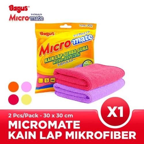 Foto Produk Bagus Micromate Kain Lap Mobil Microfiber Serbaguna 2pc 30x30 302 dari Tchome Official Store
