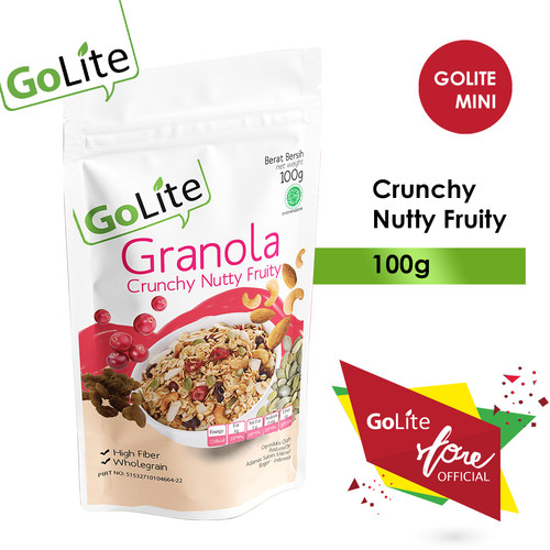 Foto Produk GoLite Granola Crunchy Nutty Fruity 100gr dari GoLite Granola Official