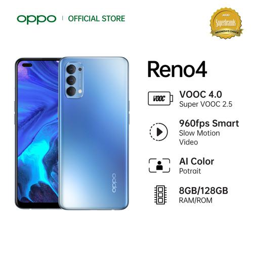 Foto Produk OPPO Reno4 Smartphone 8GB/128GB (Garansi Resmi) - Biru dari OPPO OFFICIAL STORE
