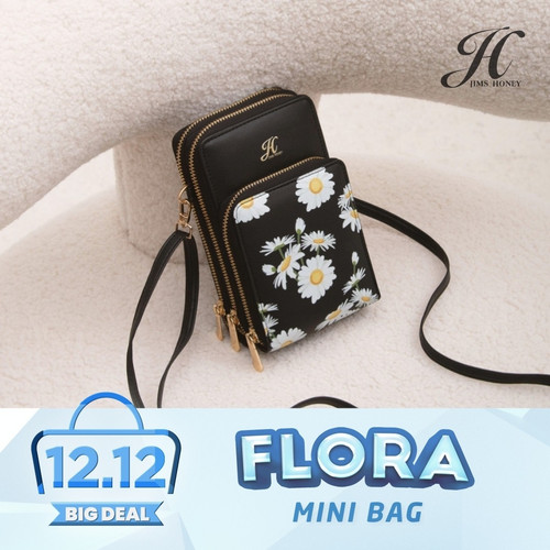 Foto Produk Jims Honey - Flora Mini Bag Tas Selempang Wanita Sling Bag - Hitam dari JIMS HONEY OFFICIAL