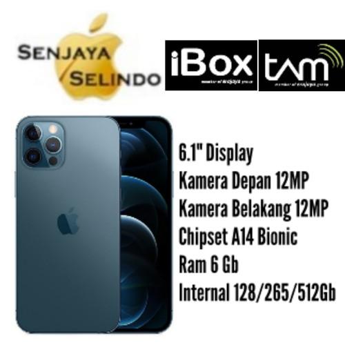 Foto Produk Iphone 12 Pro 128Gb/256Gb/512Gb Garansi Resmi IBOX/TAM - Pacific Blue, 128Gb dari Senjaya Selindo