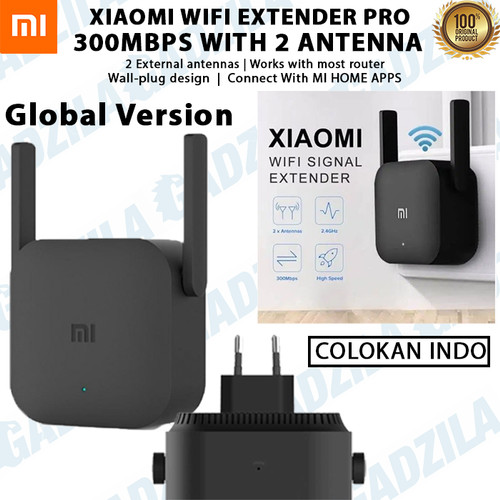 Foto Produk Xiaomi Wifi Extender Pro Repeater Amplifier 300Mbps with 2 Antenna R03 - COLOKAN INDO dari GADZILA STORE
