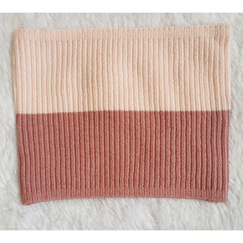 Foto Produk Bandana ciput rajut 2 warna premium annisa - Babypink-Dusty dari 3jaya fashion