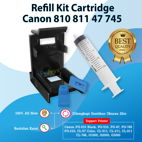 Foto Produk Refill Toolkit Penyedot Cartridge Canon Pendek 810 811 47 57 745 746 dari FixPrint Jakarta