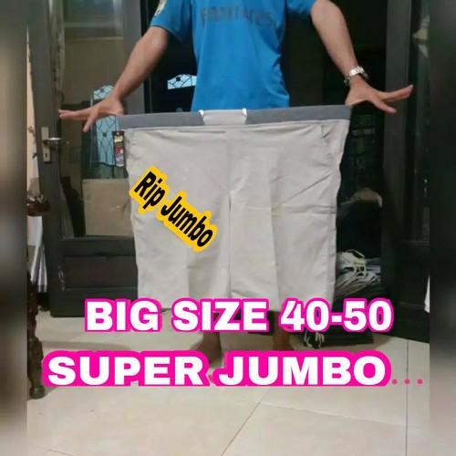 Foto Produk CELANA CHINO PENDEK PRIA JUMBO BIG SIZE CHINOS PiNGGANG RIP SIZE 40 50 - Hitam, 40 41 dari JUMBO_BIGSIZESTORE