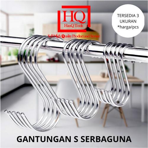 Foto Produk Gantungan S Serbaguna Cantolan Hook Hanger Pengait stainless steel 304 - KECIL dari HanQ Tools