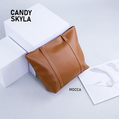 Foto Produk ORIGINAL Tas Candy Skyla - Candy Skyla Tote Bag - Mocca dari Udropboxpedia