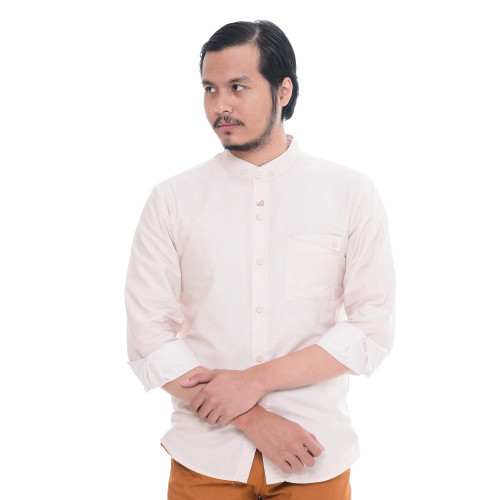 Foto Produk Rabbani - Kemeja Koko Lengan Panjang Remaja Jalu Thohir Mst - Kream, XS dari Rabbani Official