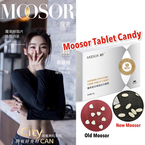 Foto Produk MOOSOR Compound Fibre Tablet Candy (Slimming Table Candy) - MODEL LOVE dari Wouwou Family