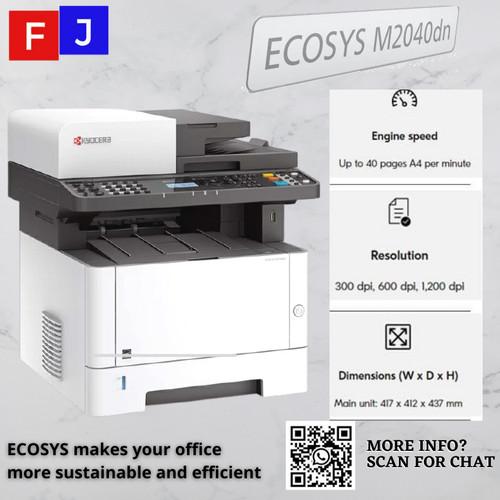 Foto Produk Mesin Fotocopy Kyocera ECOSYS M2040dn Garansi Resmi - toner bawaan dari S.M.F.J