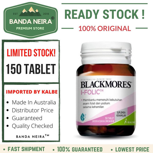 Foto Produk Blackmores I-Folic 150 Tablet dari Banda Neira Store