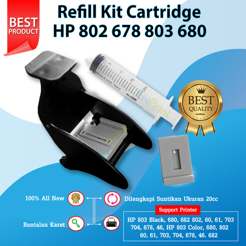 Foto Produk Refill Kit HP 682 Toolkit Tinta Cartridge Printer 2335 2336 2337 2135 dari FixPrint Jakarta